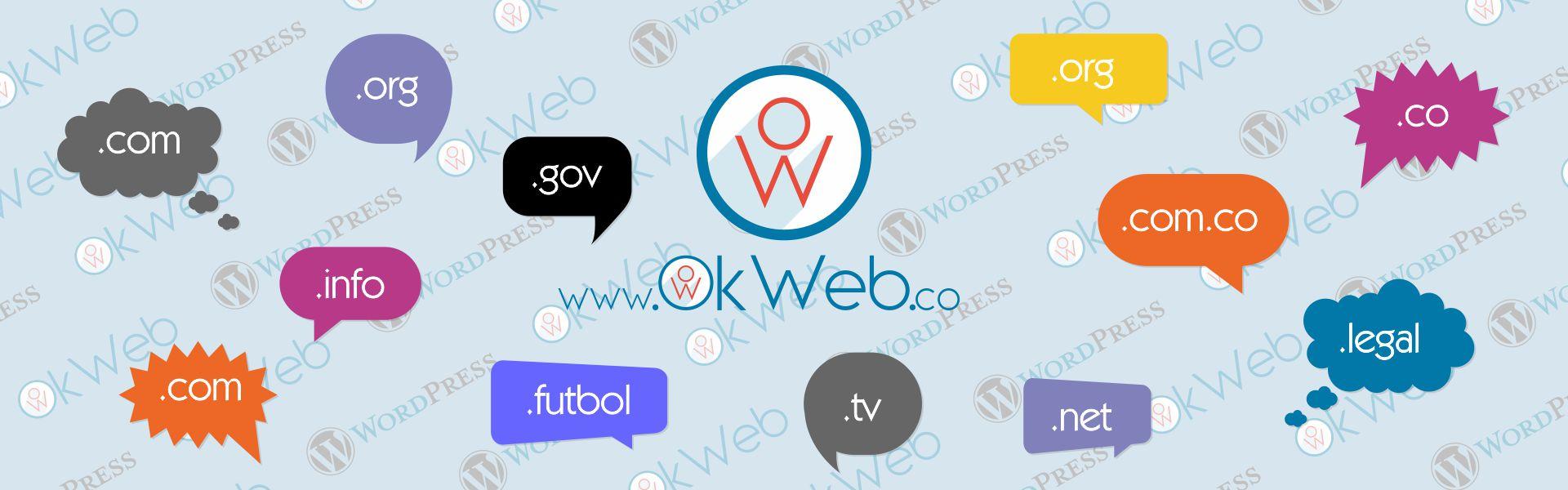 Algunos tipos de dominio disponibles en internet para un sitio o página web