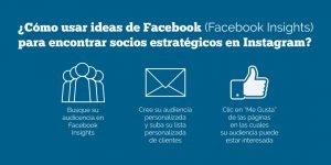 ¿Cómo usar ideas de Facebook (Facebook Insights) para encontrar socios estratégicos en Instagram?