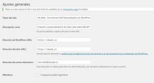 Ok Web – Ajustes generales wordpress