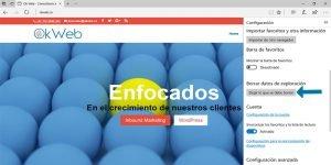 Ok Web – Eliminando cache de Microsoft Edge