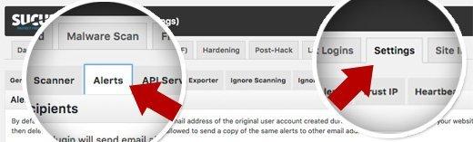 Ok Web - Sucuri alertas de correo