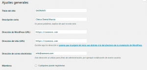 Ok Web – Ajustes generales wordpress