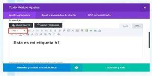 Ok Web – como agregar etiqueta h1