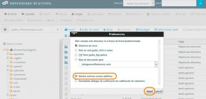Ok Web – mostrar archivos ocultos cpanel