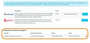 Ok web – Certificado ssl ya instalado